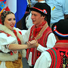 EVOLENE, SWITZERLAND - AUGUST 15: Croatian dancers at the International Festival of Folklore and Dance from the mountains (CIME) : August 15, 2011 in Evolene Switzerland