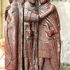 The porphyry tetrarchs, the four emperors sharing the roman empire appointed by Diocletian holding each other fraternally. 1700 year old sculpture built into the wall of St Mark's Basilica, Venice