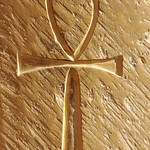 Ankh the ancient egyptian sign of life, carved into an ancient egyptian temple wall