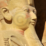 Statue of  of Queen Hatshepsut at Thebes in Egypt from her mortuary temple