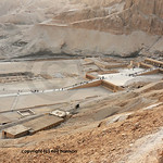 The early middle new mortuary temple of Queen Hatshepsut at Thebes in Egypt