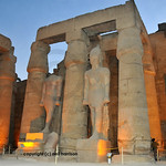 Colossal statues of Ramses II at Luxor Temple in Egypt