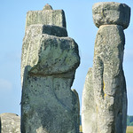 huge trilithon standing stones, part of the prehistoric stone ring at Stonehenge in England