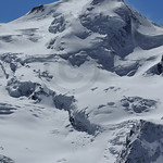 Castor the ice covered peak above Zermatt, one of the heavenly twins